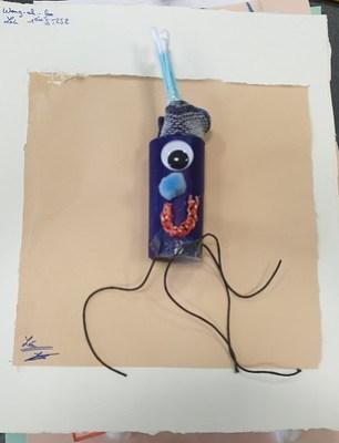"""Funny nerve"""" (un nerf représenté par un rouleau de papier toilettes) par Léa Wong-ah-foo - ST2S2 - Lycée René Cassin, Gonesse"""