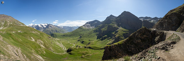 View from south ramp of Col de l'Iseran
