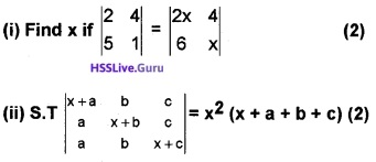 Plus Two Maths Determinants 4 Mark Questions and Answers 10