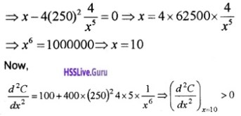 Plus Two Maths Application of Derivatives 6 Mark Questions and Answers 73