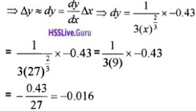 Plus Two Maths Application of Derivatives 4 Mark Questions and Answers 34