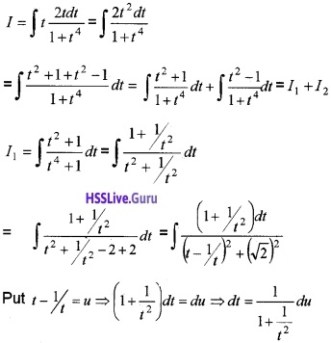 Plus Two Maths Integrals 6 Mark Questions and Answers 81