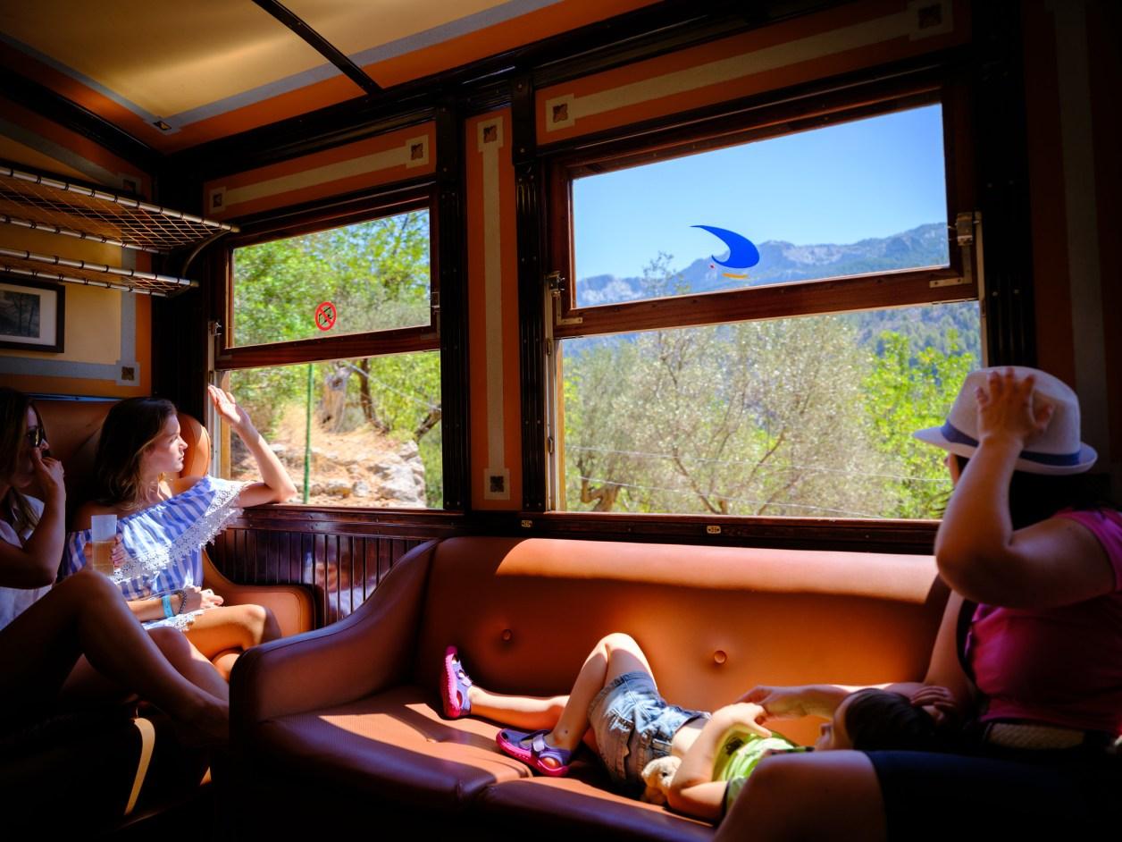 Sunny train in Sunny Spanish Island