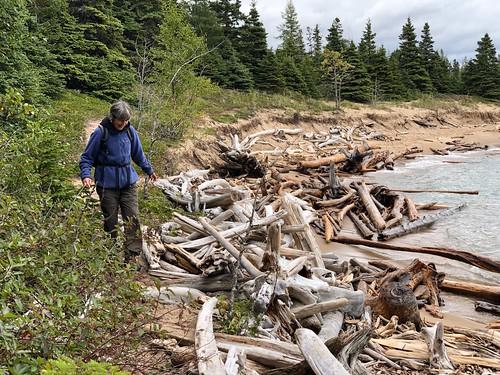 Pukaskawa - Linda and driftwood