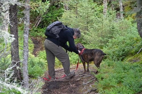 Pukaskawa - Linda and Hector on a trail