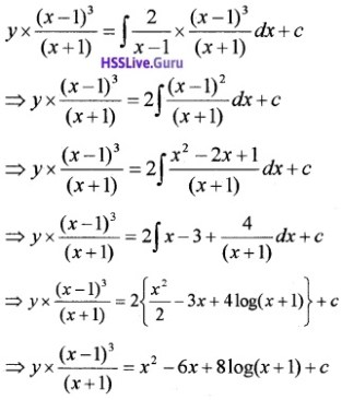 Plus Two Maths Differential Equations 6 Mark Questions and Answers 37