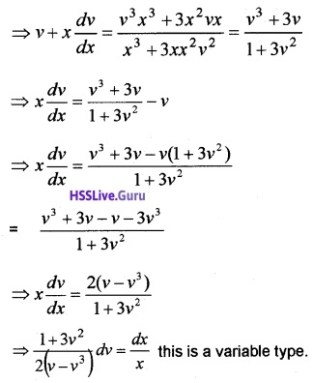 Plus Two Maths Differential Equations 6 Mark Questions and Answers 30