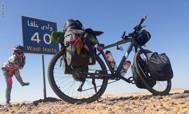 5519 Sara Haba, the first female pilgrim to reach Makkah on a bicycle 01