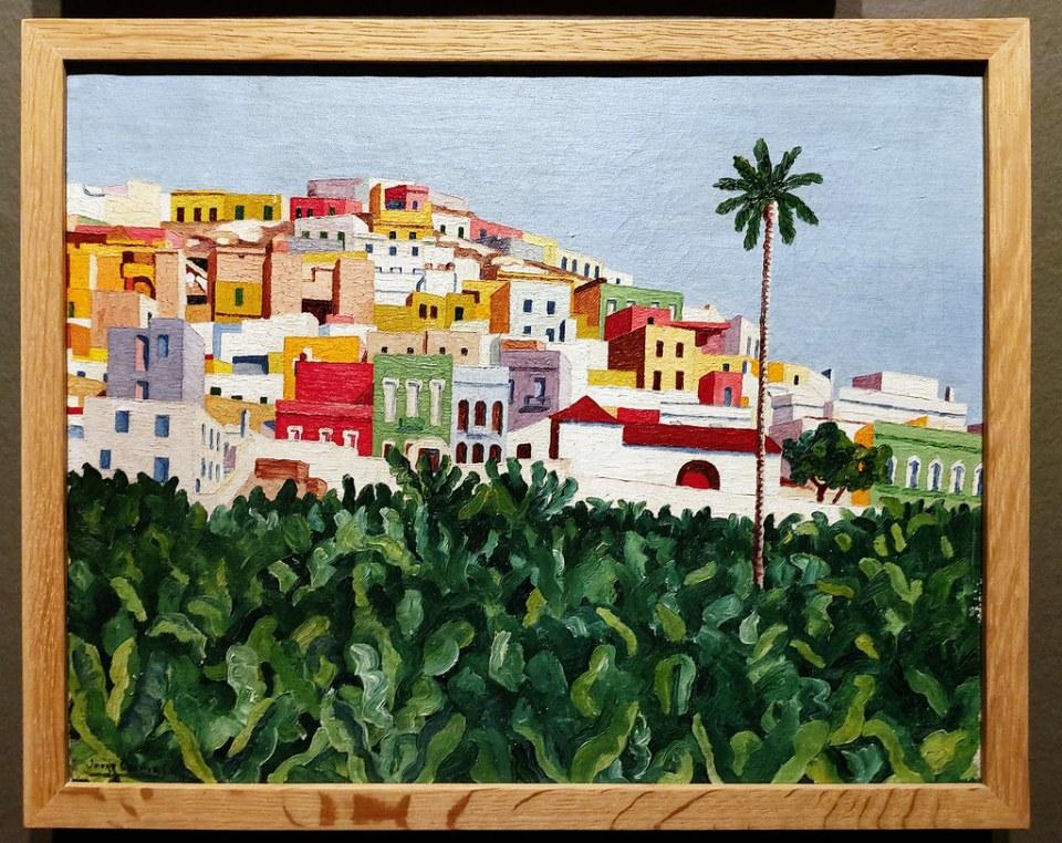 Jorge Oramas Barrio de San Nicolás 1932-1935 pintura exposicion Escuela Lujan Perez Las Palmas de Gran Canaria
