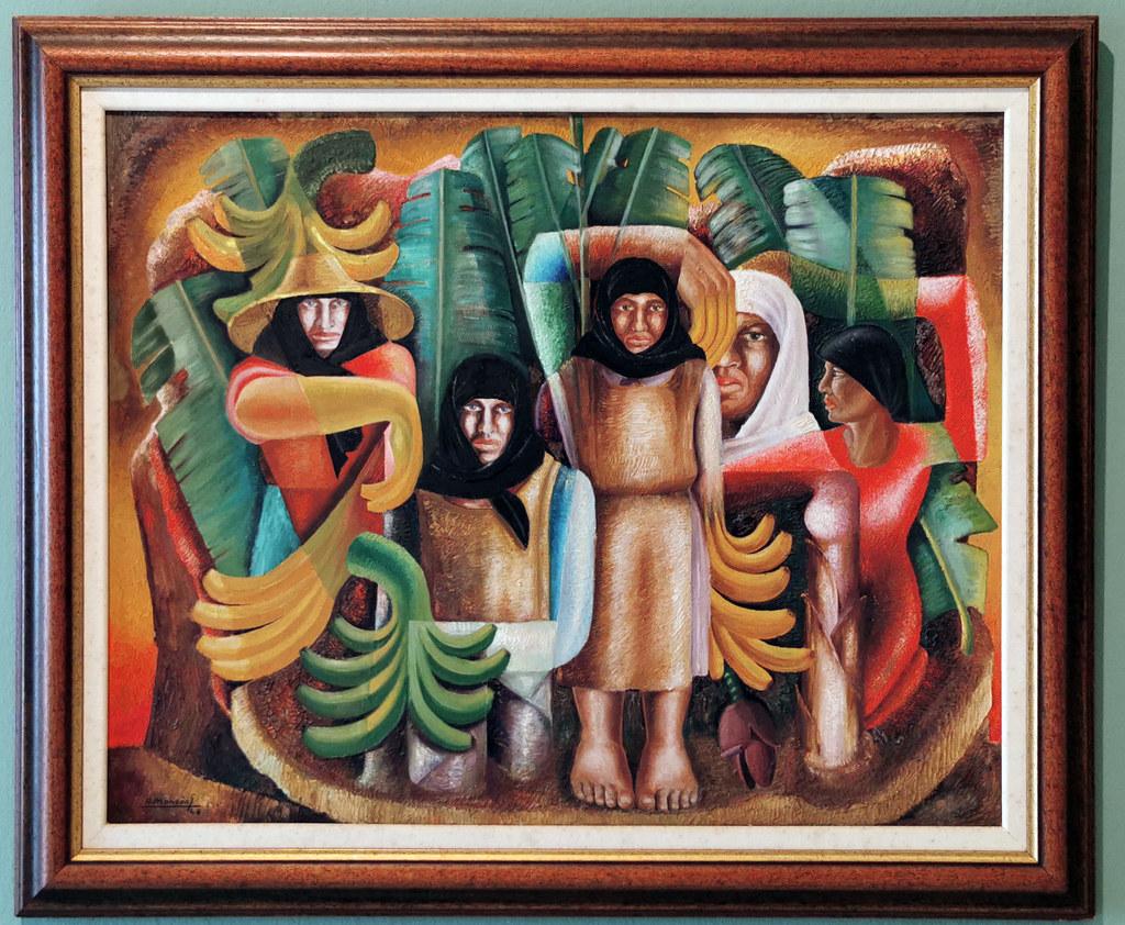 Felo Monzón Platanal 1948 pintura exposicion Escuela Lujan Perez Las Palmas de Gran Canaria