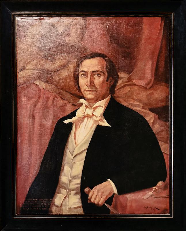 Cirilo Suarez Retrato de José Luján Pérez 1952 pintura exposicion Escuela Lujan Perez Las Palmas de Gran Canaria