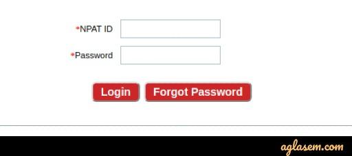 NPAT 2021 Admit Card