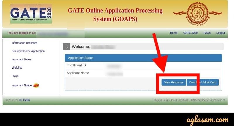 GATE 2021 Dashboard
