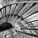 Escalier du passage Manifacier à Auxerre, version noir et blanc