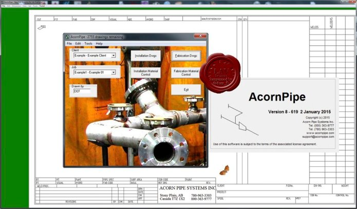 Working with AcornPipe 8-619 full license