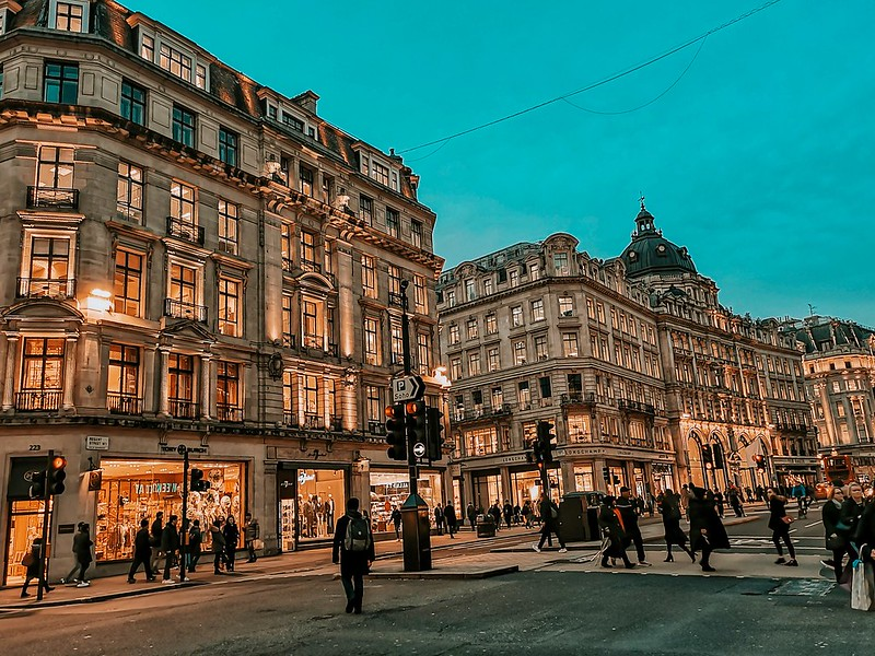 Evening at the Oxford St