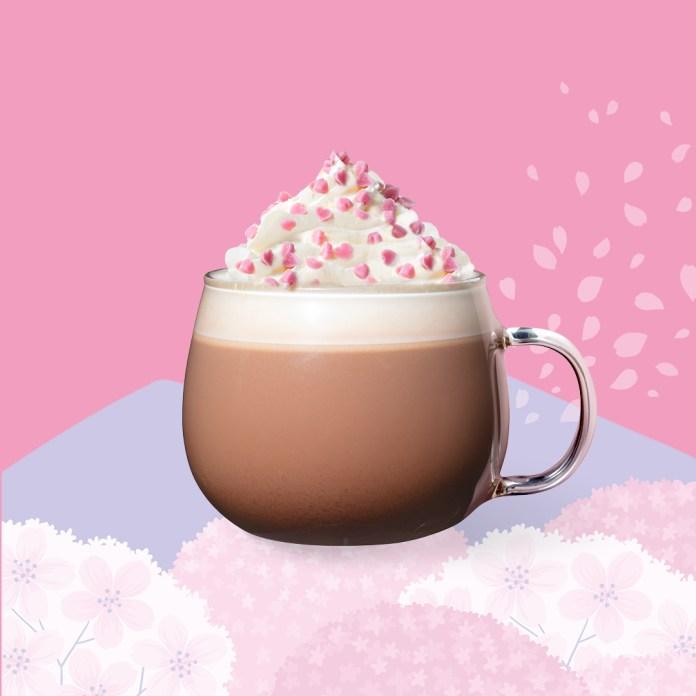 星巴克 2020年春季 Starbucks_Pink Peach Blossom Mocha
