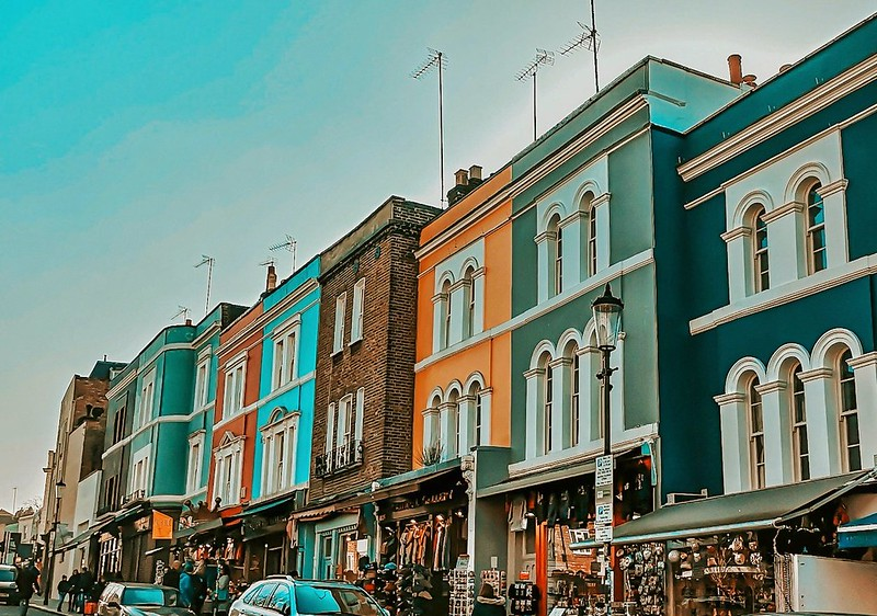 Notting Hill buildings and colours