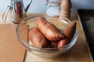 a few sweet potatoes