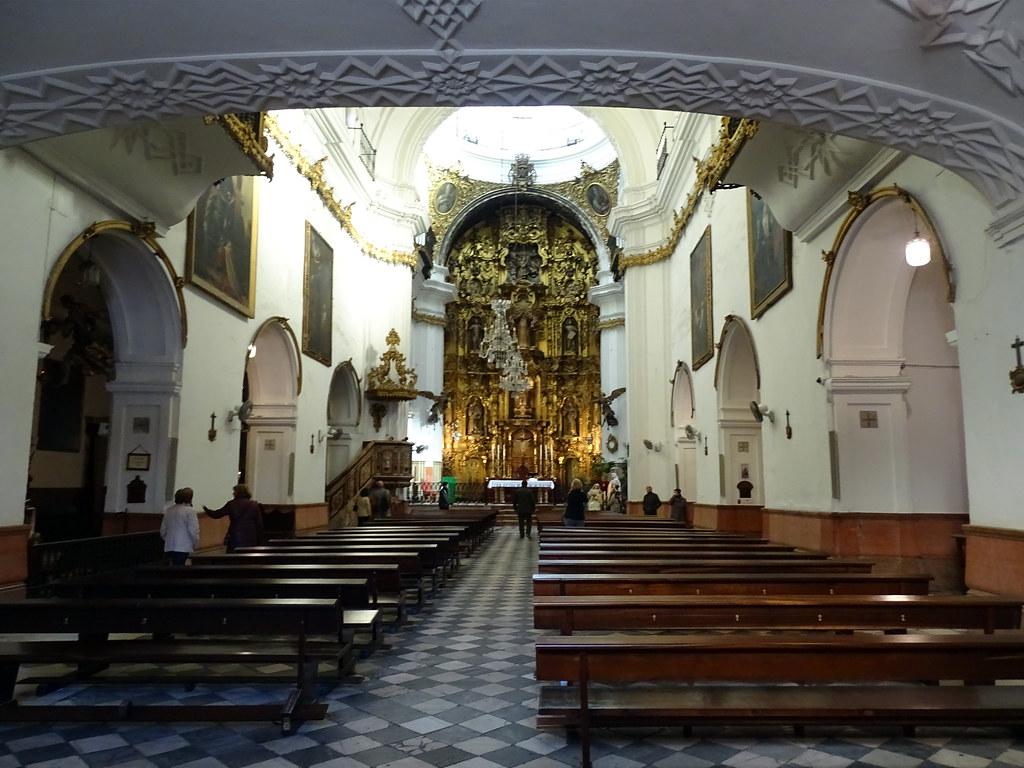 Altar mayor interior Iglesia convento de San Francisco de Asis Cadiz 02