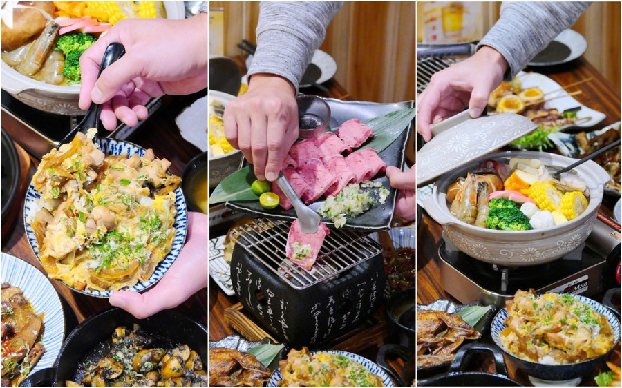 三川町食事處_台中日本料理:丼飯69元起超便宜!超厚切網燒牛舌/味噌海鮮鍋/日本生蠔+海膽必點!