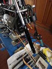 Forcella anteriore Moto Guzzi V50