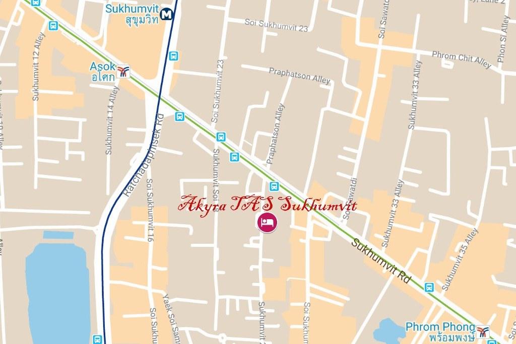 Akyra TAS Sukhumvit Bangkok Map