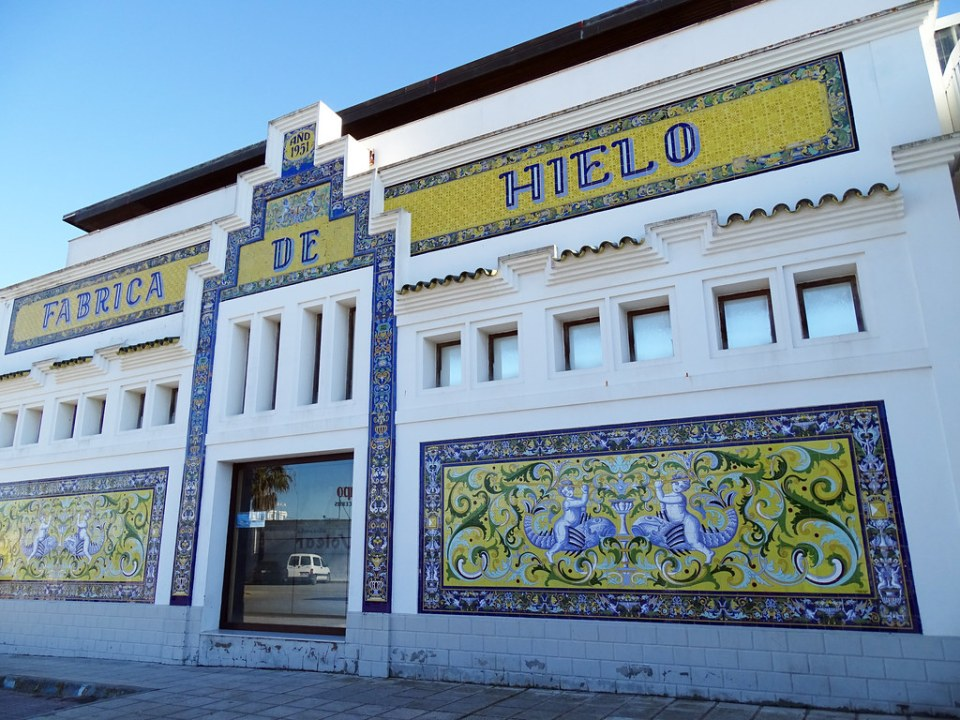edificio Fábrica de Hielo Centro de Visitantes del parque Nacional de Doñana Sanlucar de Barrameda Cadiz