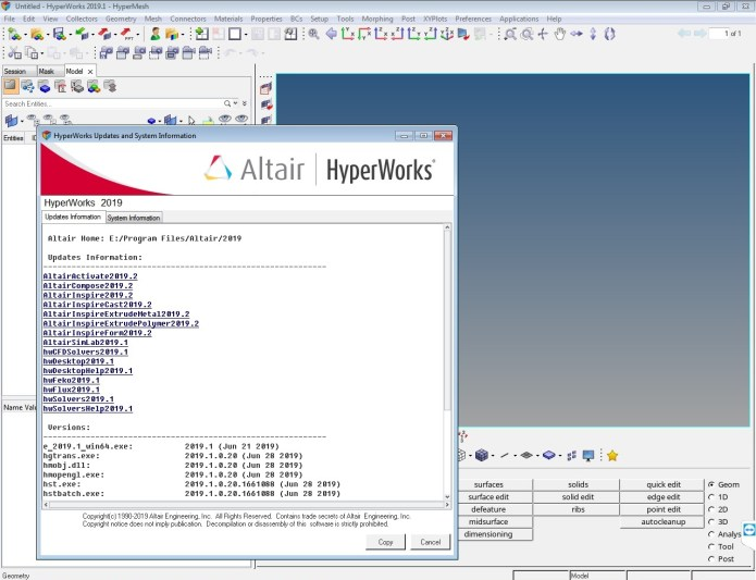 Working with Altair HyperWorks 2019.1 x64 full license