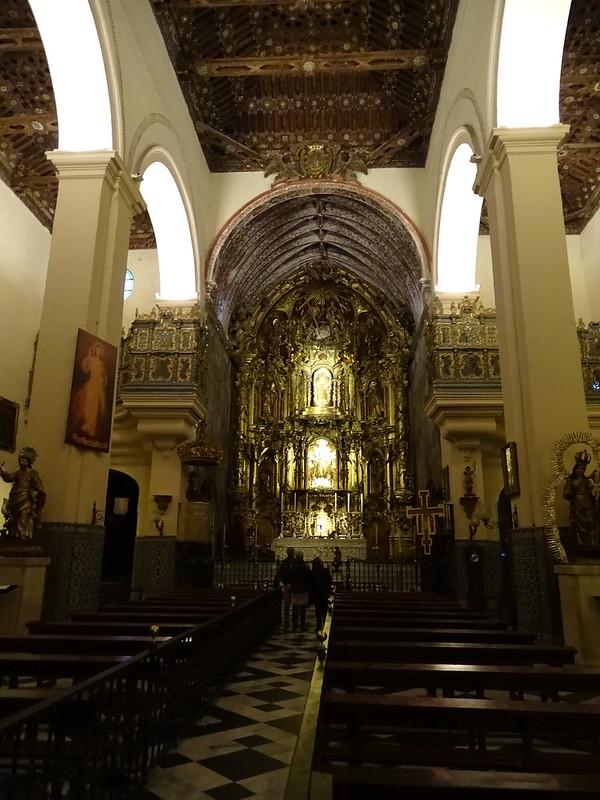 altar Mayor interior Iglesia de Nuestra Señora de la O Sanlucar de Barrameda Cadiz 01