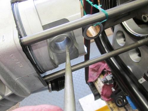 Put Engine Oil on Both Piston Wrist Pin Bosses