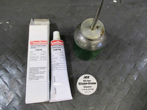 Top End Assembly-Three Bond 1207B Sealant, Engine Oil, Silicone Grease