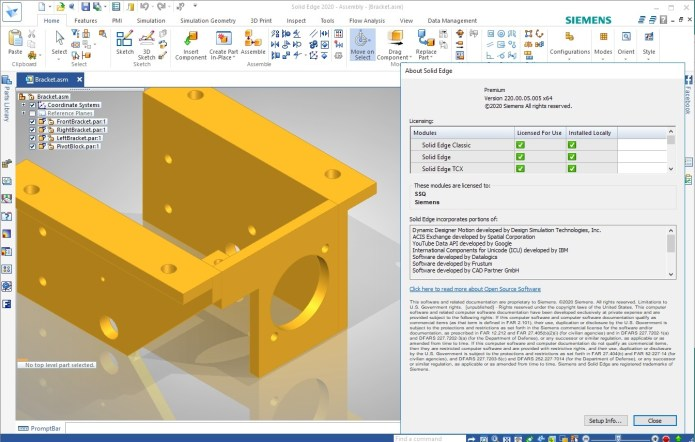 Working with Siemens Solid Edge 2020 x64 update5 full license forever
