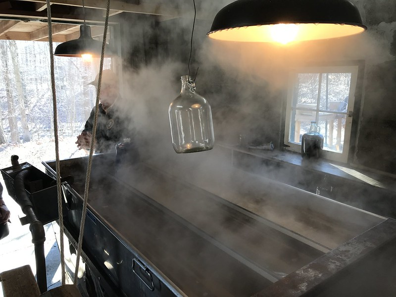 Steaming sugar shack