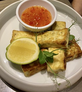Grilled Halloumi starter, Views Boutique Hotel