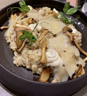 Mushroom risotto, Views Boutique Hotel