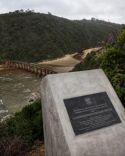 Railway bridge, from Dolphin point, Wilderness