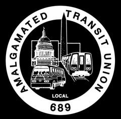 Black and white version of transit union logo: 1987 ca.