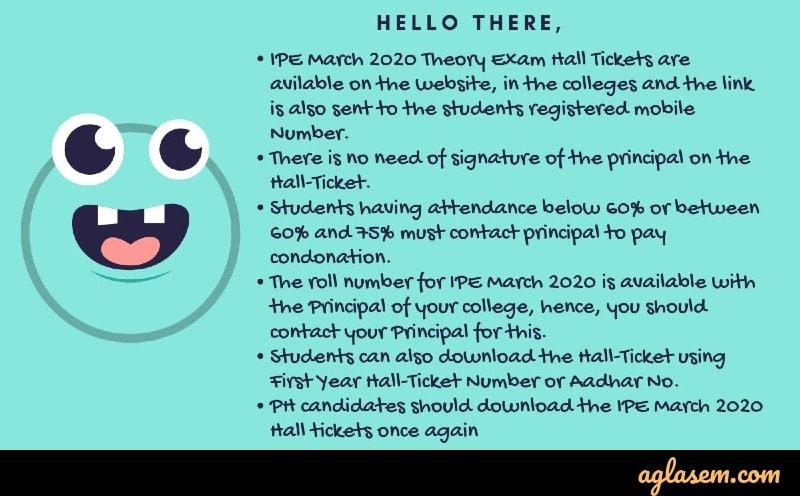 AP inter hall ticket instructions