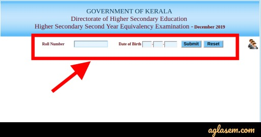 Kerala HSE Equivalency Result 2019