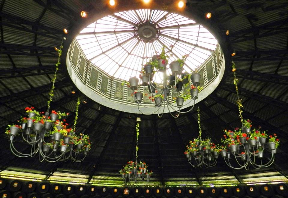 cupula interior edificio Real bodega La Concha circular Bodegas Gonzalez Byass Jerez de la Frontera Cadiz