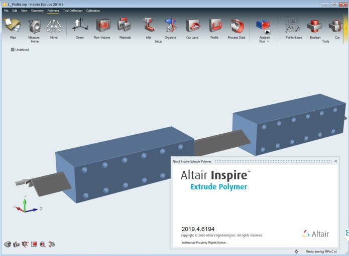 Working with Altair Inspire Extrude Polymer 2019.4 full license