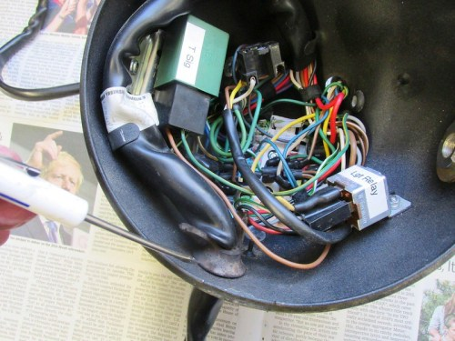Main Wiring Harness Enters Headlight Shell From Bottom