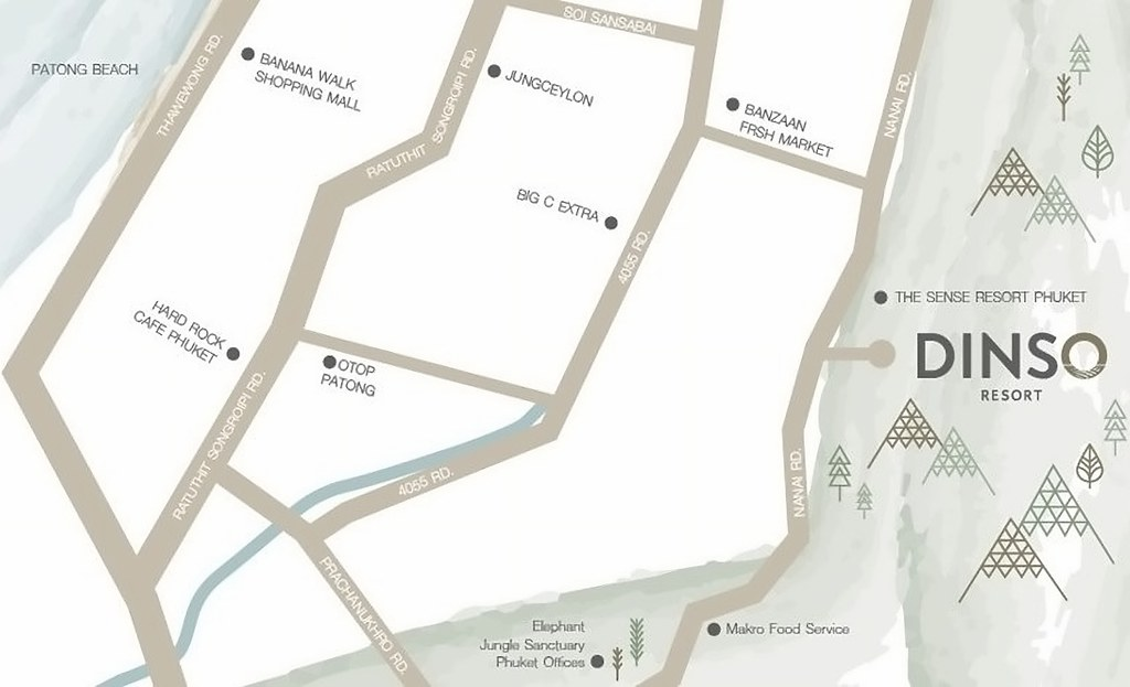 Dinso Resort Map