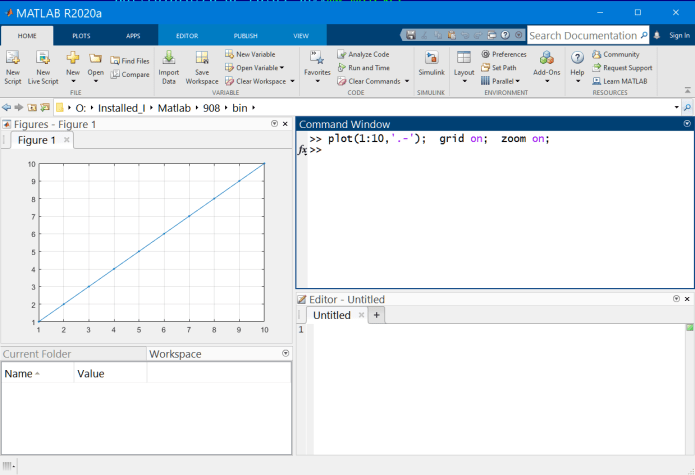Working with Mathworks Matlab R2020a full license