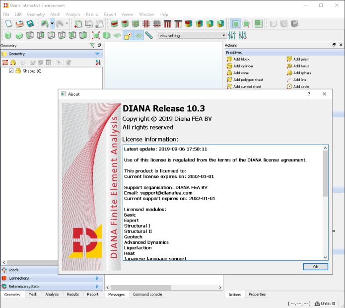 Working with DIANA FEA 10.3 full license