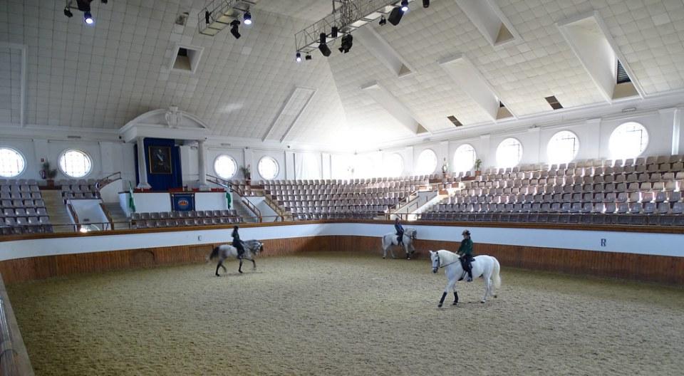 edificio interior Picadero Real Escuela Andaluza del Arte Ecuestre Jerez de la Frontera Cadiz 01