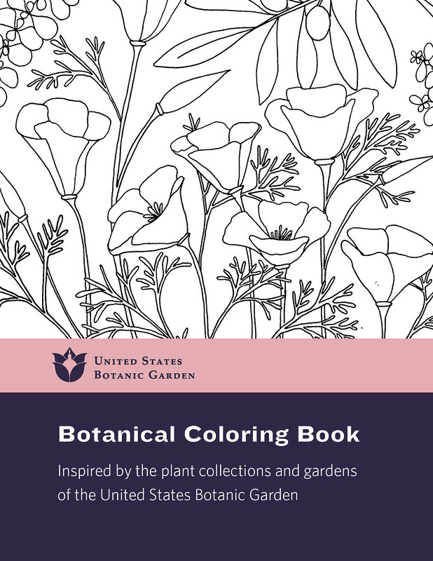 Color Our Collections Usbg Coloring Book United States Botanic Garden