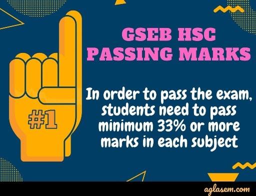 GSEB HSC passing marks