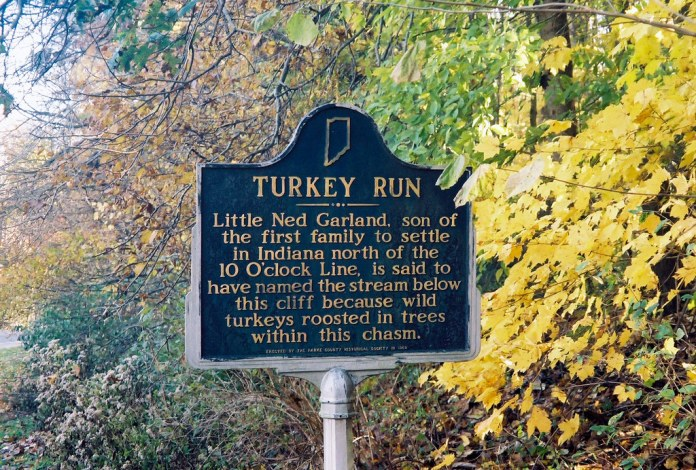 Turkey Run sign